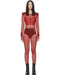 Ann Demeulemeester - Red La Fille Do Edition Soft Tulle Constructed Jumpsuit - Lyst