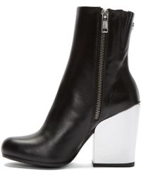 McQ - Gefrye Leather Ankle Boots - Lyst
