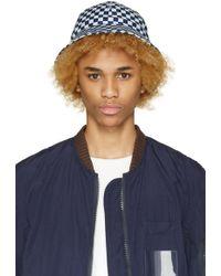 Sasquatchfabrix - Blue Check Bucket Hat - Lyst