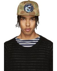 Saint Laurent - Green Camouflage Space Is My Home Cap - Lyst