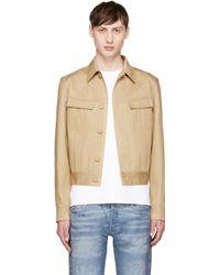 CALVIN KLEIN 205W39NYC - Beige Cotton Twill Jacket - Lyst