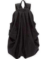 Yohji Yamamoto - Black Draped Backpack - Lyst