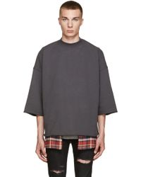 Fear Of God - Grey Mock Neck Pullover - Lyst