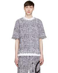 Haal - Purple & Black Hannah Towelling T-shirt - Lyst