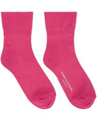 Comme des Garçons - Pink Short Socks - Lyst
