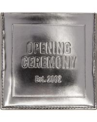 Opening Ceremony - Silver Square Card Holder - Lyst