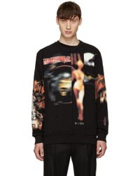 Givenchy - Black Distressed Heavy Metal Sweatshirt - Lyst