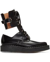 Comme des Garçons - Black Buckles Cut-out Boots - Lyst