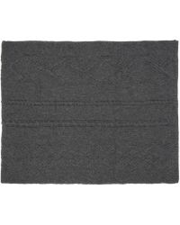 BLK DNM - Grey Cable Knit Scarf - Lyst