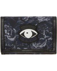 KENZO - Navy Signature Prints Wallet - Lyst