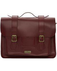 Dr. Martens - Red Leather Messenger Bag - Lyst