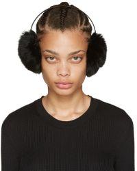 Yves Salomon - Black Fur Earmuffs - Lyst