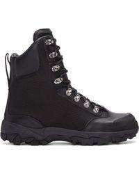 Marcelo Burlon - Black Hiking Combat Boots - Lyst