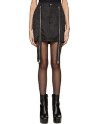 Hood By Air - Black Double-zip Sup Luc Skirt - Lyst