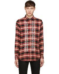 Christian Dada - Red Classic Cut-off Shirt - Lyst