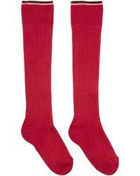 Isabel Marant - Red Silk Zina Socks - Lyst