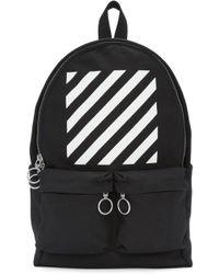 Off-White c/o Virgil Abloh | Black & White Diagonals Backpack | Lyst