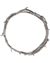 Pearls Before Swine | Silver Thorn Bangle | Lyst