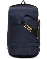 Wooyoungmi - Navy Buckle Backpack - Lyst