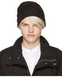 Attachment - Grey Wool Beanie - Lyst