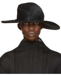 Issey Miyake - Black Pleated Hat - Lyst e566604ae91