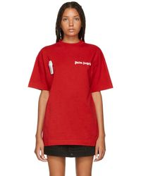 Palm Angels - Red New Basic T-shirt - Lyst