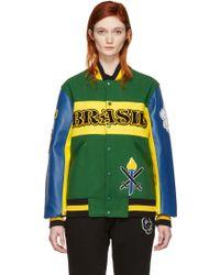 Opening Ceremony - Green Brazil Global Varsity Jacket - Lyst