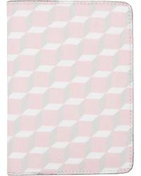Pierre Hardy - Ssense Exclusive Pink Cube Passport Holder - Lyst
