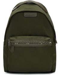 Stella McCartney - Green Nylon Chain Backpack - Lyst