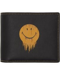 mens coach wallet outlet xzzz  COACH  Black Baseman Edition Gnarly Face Three-in-one Wallet  Lyst