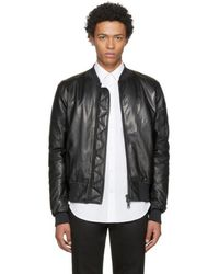 Pyer Moss - Black Leather Taxi Driver Ma-1 Bomber Jacket - Lyst