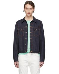 Nudie Jeans Blue Denim Kenny Dry Jacket