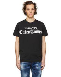 DSquared² - Black Torontos Caten Twins T-shirt - Lyst