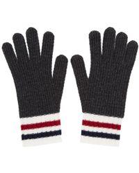 Moncler Gamme Bleu - Grey Wool Gloves - Lyst