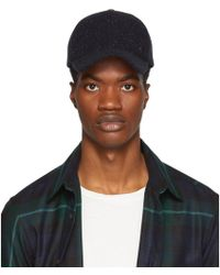 PS by Paul Smith - Navy Wool Speckled Cap - Lyst