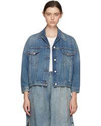 MM6 by Maison Martin Margiela - Blue Oversized Jacket - Lyst