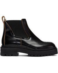 Marni - Black Treaded Chelsea Boots - Lyst