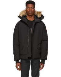 Canada Goose - Black Down Chilliwack Bomber Jacket - Lyst