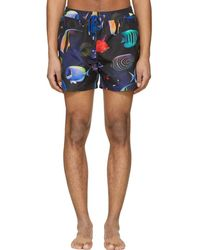 Paul Smith - Navy Tropical Fish Swim Shorts - Lyst