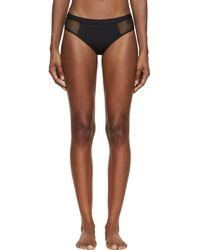 T By Alexander Wang - Black Mesh Panel Bikini Bottoms - Lyst