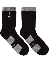 Rick Owens - Black And White Glitter Socks - Lyst