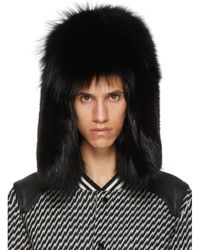 Saint Laurent Felted Lapin Hat With Feathers Hatband in Black for ... 356a412f1713