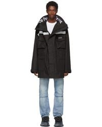 Balenciaga - Black Power Of Dreams Collar Parka - Lyst