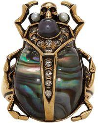 Alexander McQueen - Gold Beetle Ring - Lyst
