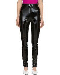Versace - Black Vinyl Pants - Lyst
