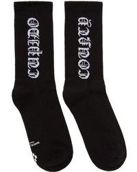Marcelo Burlon - Black County Short Socks - Lyst