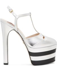 Gucci - Silver Angel Platform Heels - Lyst