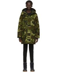 Canada Goose - Green Camo Down Canmore Parka - Lyst