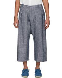 Blue Blue Japan - Blue Linen Mesh Wide Trousers - Lyst