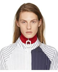 J.W.Anderson - Red Wool Neck Band - Lyst